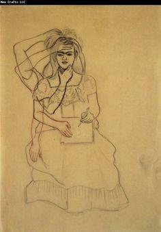Frida Kahlo  Self-Portrait Drawing