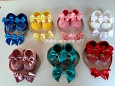 Girls Designer Dresses, Baby Gown, Diy Hair Bows, Crochet Baby Booties, Baby Head, Rainbow Baby, Baby Girl Shoes, Baby Sewing, Kids Outfits