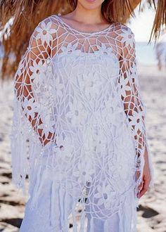 Crochet Poncho Pattern - Gorgeous Summer