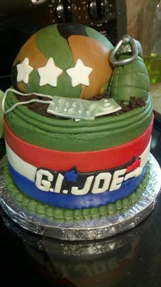G.I. Joe army soldier cake - Totally Baked by Kindle Family Favorites Facebook.com/totallybakedbykindlefamilyfavorites Www.kindlefamilyfavorites.com