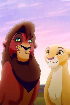 Kovu and Kiara Lion King 2 Kiara Lion King, Kiara And Kovu, Lion King 3, Simba Lion, Lion King Fan Art, Lion King Movie, Disney Lion King, Walt Disney, Disney Art