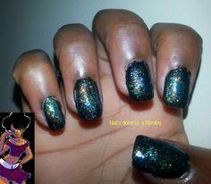 shimmery nail art