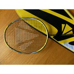 Carlton Vapour Trail Flux Badminton Racket 85g, black/yellow/silver. Unused..