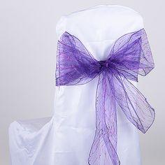 "purple glitter chair #sash 8"" X 108"""