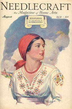 Needlecraft Magazine of 1931, USA explores the #Romanian craft and tradition   #Romania #RomanianBlouse #LaBlouseRoumaine