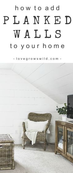 Master Bedroom Planked Walls Love Grows Wild Master Bedroom Planked Walls Love Grows Wild Franzi Franzi This master bedroom gets a dramatic makeover with beautiful white wide plank walls Learn how hellip Farmhouse Remodel, Farmhouse Interior, Farmhouse Decor, Farmhouse Style, Farmhouse Trim, French Farmhouse, Wood Bedroom, Bedroom Decor, Master Bedroom