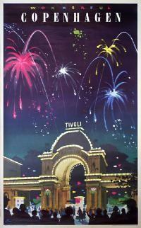 Film/Entertainment, Travel Poster: Wonderful Copenhagen - Tivoli , Country: Denmark , Artist: Des Asmussen