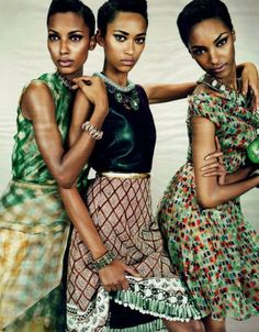 Anais Mali, Jasmine Tookes and Jourdan Dunn for W Magazine