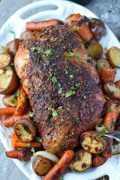 Garlic Rosemary Roasted Pork Shoulder - Butter Your BiscuitYou can find Pork shoulder and more on our website.Garlic Rosemary Roasted Pork Shoulder - Butter Your Biscuit Pork Shoulder Butt Recipe, Roasted Pork Shoulder Recipes, Boneless Pork Shoulder Roast, Quick Pork Shoulder Recipes, Boneless Pork Butt Recipe, Pork Shoulder Crock Pot, Pork Roast In Oven, Pork Roast Recipes, Pork Loin