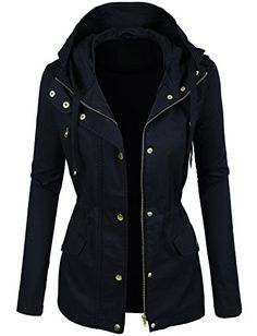 LE3NO Womens Lightweight Cotton Military Anorak Jacket with Hoodie LE3NO http://www.amazon.com/dp/B016X3C3QG/ref=cm_sw_r_pi_dp_Gm6jwb181Q6HS