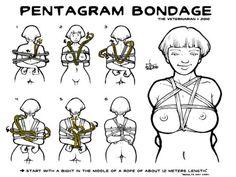 Rope Bondage Tie - Pentagram Chest Harness - Temple Illuminatus