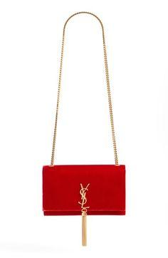 free shipping and returns on saint laurent medium kate tassel velour crossbody bag