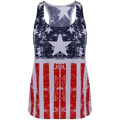Fashionable Scoop Neck Sleeveless American Flag Print Tank Top ($9.85) ❤ liked on Polyvore featuring tops, shirts, tank tops, scoop neck top, no sleeve shirt, scoopneck tank, usa flag shirt and sleeveless tops