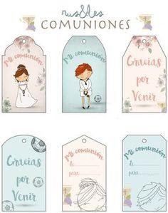 Etiquetas Primera Comunión descargatelas gratis en nuestro blog