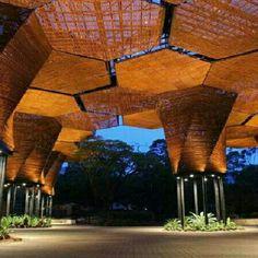 Orquideorama, no Jardim Botânico em Medellín, na Colômbia. Projeto dos escritórios Plan B Arquitectos e JPRCR Arquitectos. #architecture #arts #arquitetura #arte #decor #decoração #decoration #design #interiores #interior #madeira #projetocompartilhar #wood #shareproject #conforto #confort #madeiraeconforto
