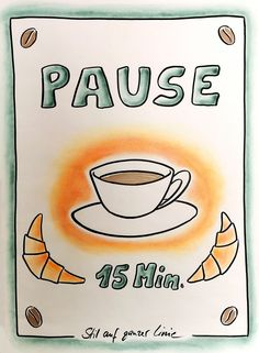 Pause flipchart - Flipchart seminars as an in-house event for companies, universities and public administration. Train The Trainer, Workshop, Public Administration, Sketch Notes, Lettering, Cartoon Styles, Journal Inspiration, Flipping, Templates