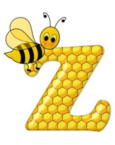 Alphabet letters bee on honeycomb. Bee Pictures, Scrapbook Letters, Spelling Bee, Bee Party, Alphabet And Numbers, Alphabet Letters, Christmas Templates, Bee Theme, Mellow Yellow