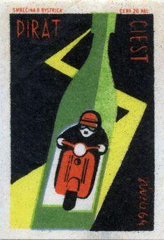 czechoslovakian matchbox label (1964)
