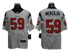 Houston Mens Texans Elite Mercilus #59 White Jersey Large -- Awesome products selected by Anna Churchill