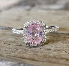 2.64 Cts. Rose Peach Champagne Sapphire & Diamond by Studio1040