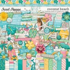 Coconut Beach by Heather Roselli & Tickled Pink Studio