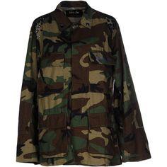 Odi Et Amo Jacket (720 SEK) ❤ liked on Polyvore featuring outerwear, jackets, military green, odi et amo, green military jacket, camo print jacket, camoflauge jacket and camo jacket