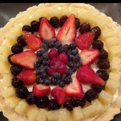 The best fruit tart I've ever had. It tastes even better than it looks! Need to get recipe from my SIL.