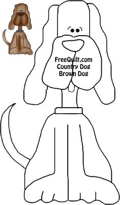 Country Dogs Quilt Pattern - Dog Applique Patterns for Quilting