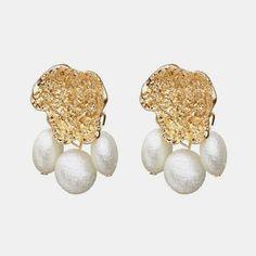 Handmade Natural Green Shell Tigers Eye Stone Czech 14k Gold Plated Earring USA