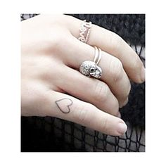 Miley Cryus Heart Tattoo found on Polyvore