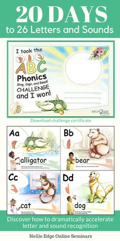 RAISE YOUR EXPECTATIONS!: Here is a great article and video clip! See ABC Phonics page at nellieedge.com for more practical resources that support ABC Phonics: Sing, Sign, and Read! Discover the power of multisensory teaching and learning.