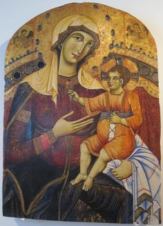 Гвидо да Сиена. Мадонна Сан-Бернардино, 1262 г..