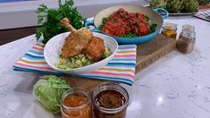 Phil Vickery's stuffed chicken bake and chicken chop schnitzel | This Morning Creamy Chicken, Baked Chicken, Stuffed Chicken, Chicken Recipes, Phil Vickery Recipes, Pho Noodle Soup, Meals For Four, Main Meals, Pork Fillet