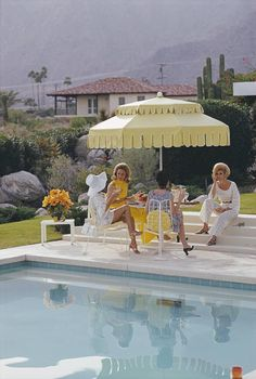 'Nelda And Friends' Palm Springs (Archival Pigment Print) | From a unique collection of color photography at https://www.1stdibs.com/art/photography/color-photography/