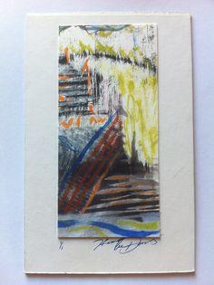 Watercolor Nd woodcut 4x6 $5.00 artgurl13