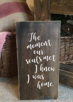 The moment our souls met I knew I was home $25 on sale with Free shipping!!!! #farmhouse #fashion #loveit #couples