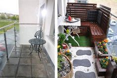 Absolutely stunning small balcony transformation by Adam and Magda in Ireland. #EYSINSPIRED by this project: http://www.engineeryourspace.com/how-to-create-an-outdoor-balcony-dining-area/
