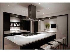 Sleek kitchen, rangehood