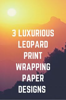 Smart Working is Hard Working: Leopard Print Wrapping Paper