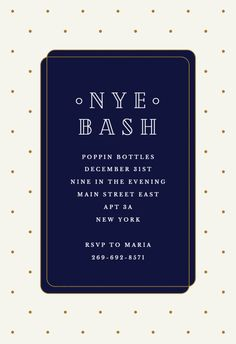 72 best New Year s Eve Invitations Template images on Pinterest in     Simple Celebration   Free New Year Invitation Template