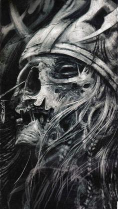By ezequiel samuraii skull art, dark art, skull tattoos, new tattoos, sleeve Skull Tattoo Design, Skull Design, Skull Tattoos, Sleeve Tattoos, Tattoo Designs, Leg Tattoos, Viking Art, Viking Warrior, Dark Fantasy Art