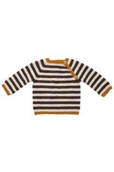 Baby Mönster 1353 Babyränder sticka randig tröja