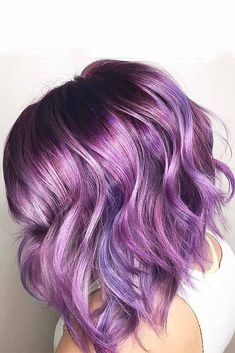 Dark purple hair: let us discuss the basics at first. This hair color is unnatural, that is, you cannot meet anyone who was born with such hair color. So, to get it, you need to get your hair dyed.#purplehair#darkpurple#haircolor