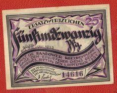 Poland Pommern Ersatzwertzeichen Randower 25 Pfennig 1921