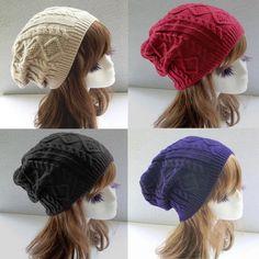 de202dd5bc3 1pcs Hat Female Winter Caps 2017 Fashion Spring Unisex Women Men Winter  Warm Knitted Crochet Baggy Beanie Hat Cap Drop Shipping
