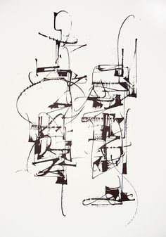 Calligraphic artwork from Kitty Sabatier- reminds me a lot of brion gysin