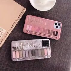 Super Creative Eyeshadow Box Pattern Phone Case Make-up Palette Design iPhone Case The eyeshadow box pattern on the phone back makes your phone eye-catching and creative, It fully shows your high taste and elegance. Cute Phone Cases, Iphone Phone Cases, Phone Covers, Bling Phone Cases, Cellphone Case, Makeup Eyeshadow Palette, Accessoires Iphone, Flip Phones, Airpod Case