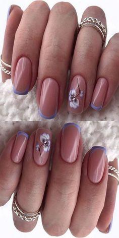 Winter Nail Designs, Colorful Nail Designs, Simple Nail Designs, Acrylic Nail Designs, Nail Art Designs, Nails Design, Winter Nails, Summer Nails, Elegant Nail Art