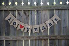 Anniversary Banner / Custom Name Banner / Anniversary Sign