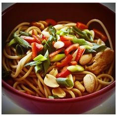 "Peanut Butter Noodles | ""These noodles were fantastic! The consistency of the peanut butter sauce looked too thin but after adding the noodles it was perfect."""